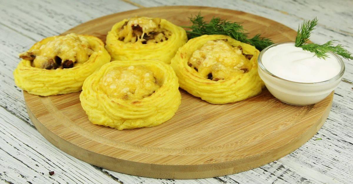 Картофельные гнёзда с фаршем рецепт с фото