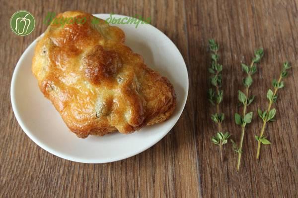 Ароматная куриная печень с грибами