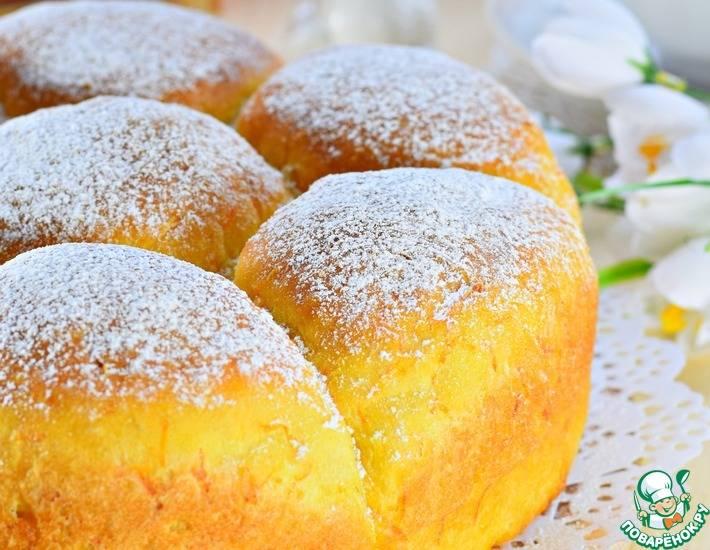 Постные булочки с медом и орехами