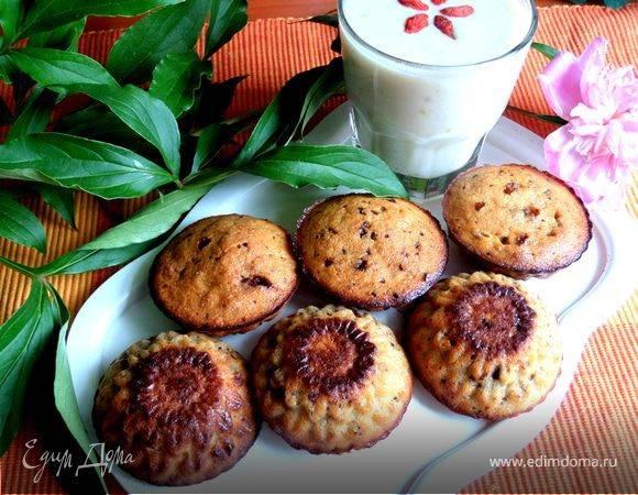 Творожные кексы с бананом и киви