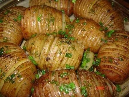 Картошка-гармошка с салом в духовке. пошаговый рецепт с фото • кушать нет