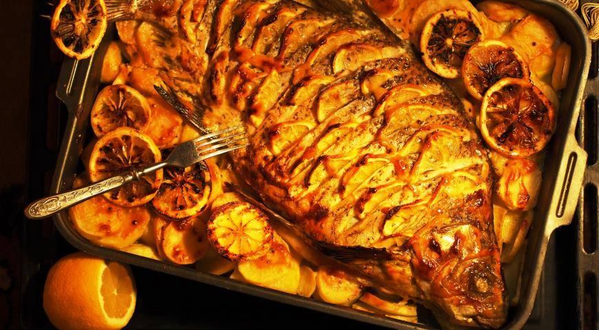 Запеченный лещ в духовке. пошаговый рецепт с фото