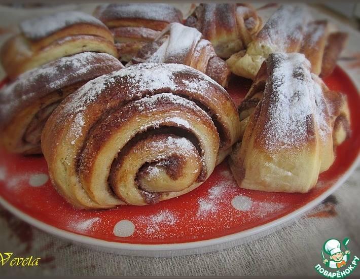 Булочки  как испечь домашние вкусные сладкие на дрожжах