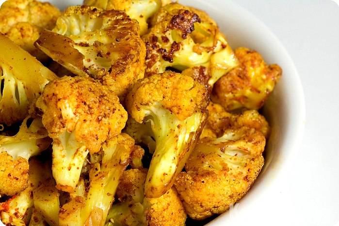 Рецепт цветной капусты, запеченной в духовке