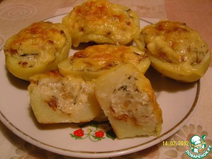 Картофельные лодочки в духовке с начинкой фаршем