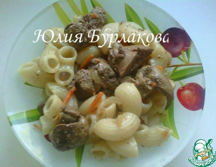 Печенка с макаронами: вкусные и простые рецепты