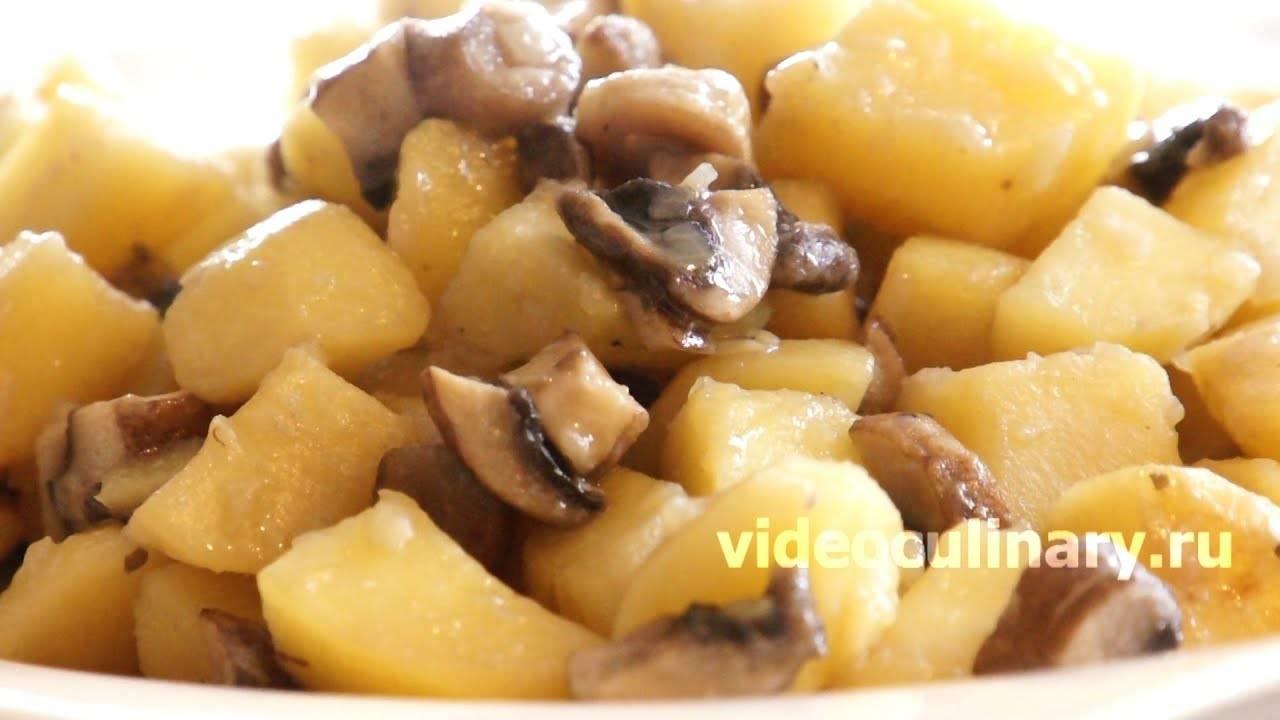 Картошка тушеная с грибами - пошаговый рецепт с фото |  блюда из овощей