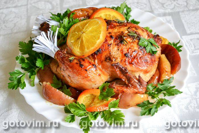 Курица с овощами и имбирем