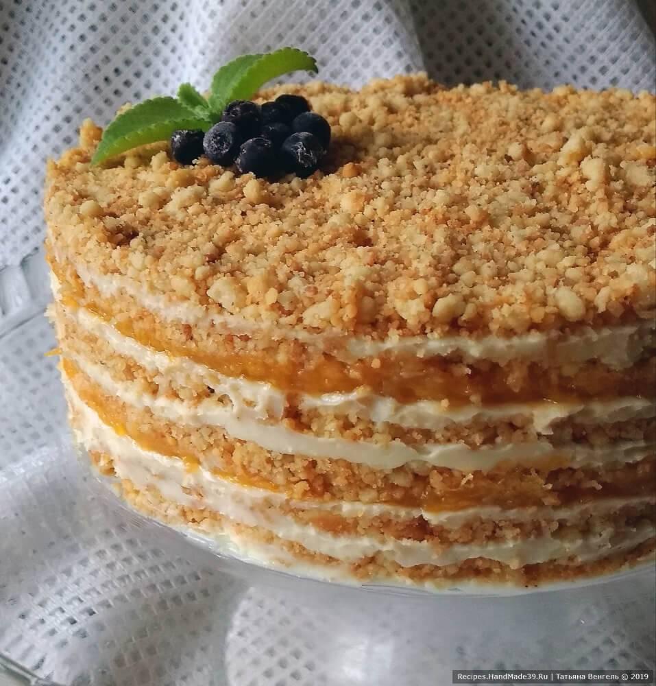 """Творожный пирог """"крошка-неженка"""" с клубникой"""