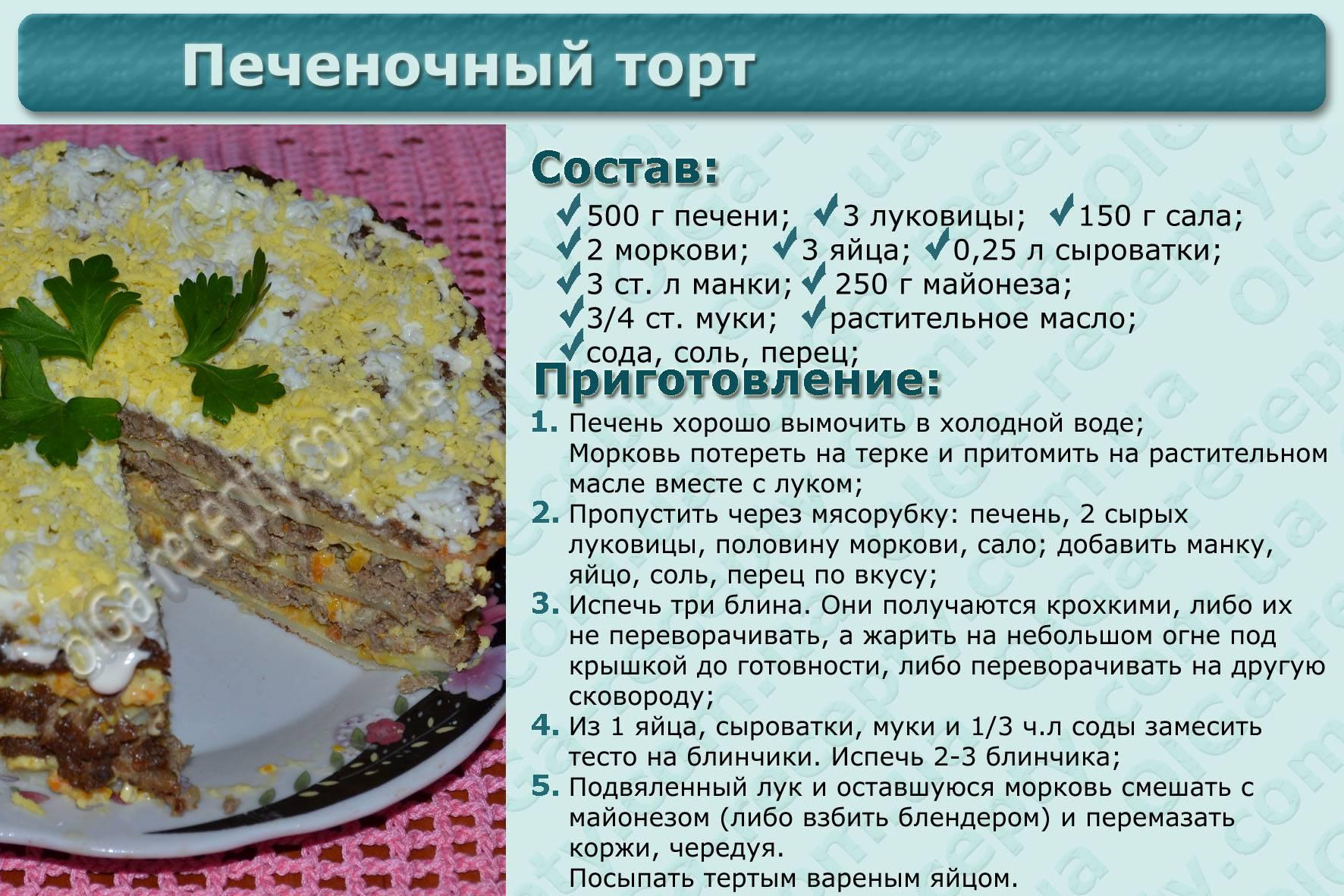 Печеночный торт — 10 самых вкусных рецептов с фото пошагово