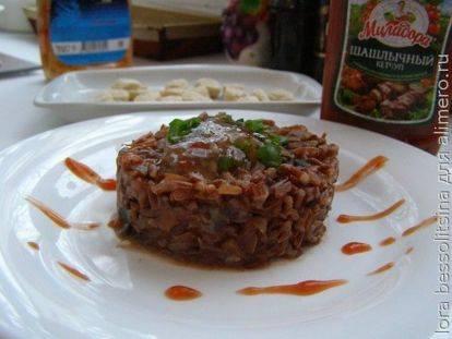 Постные котлеты из риса с грибами