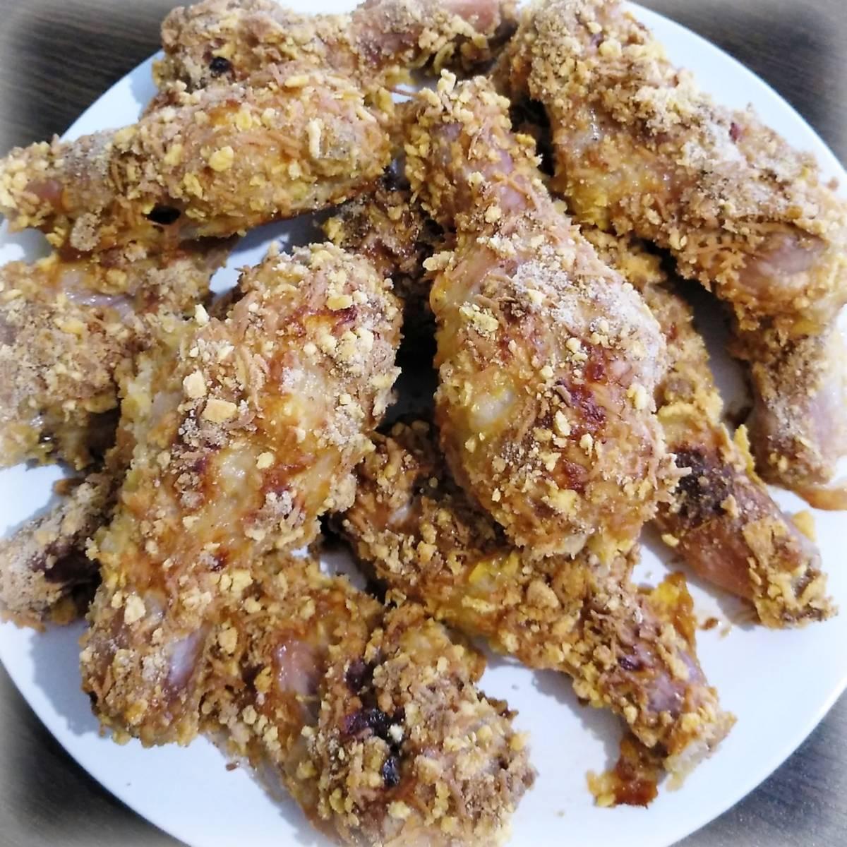 Куриные голени в панировке из чипсов рецепт с фото