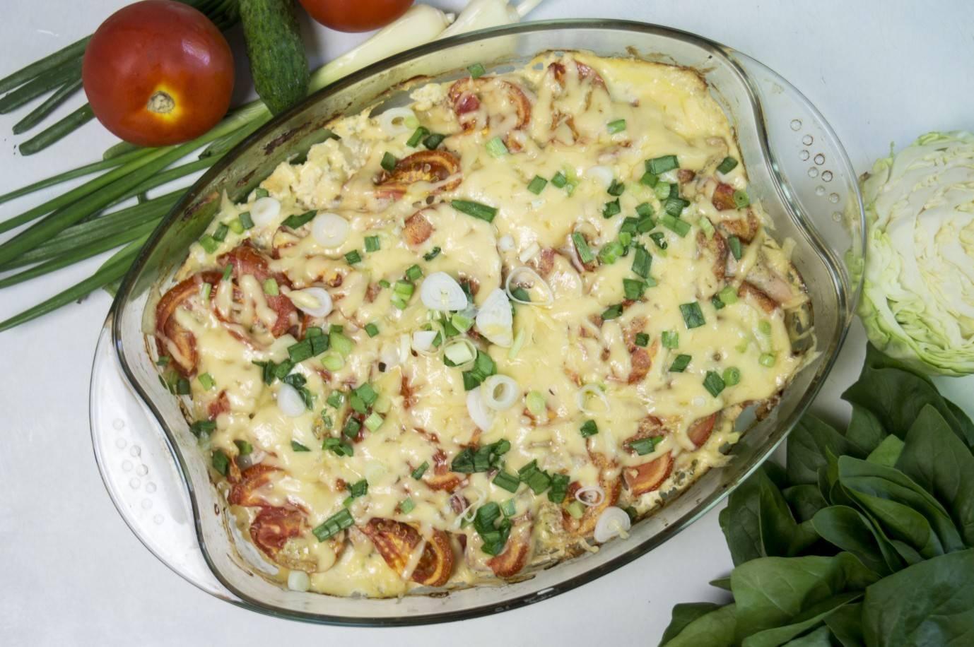 Куриное филе с картошкой и сыром