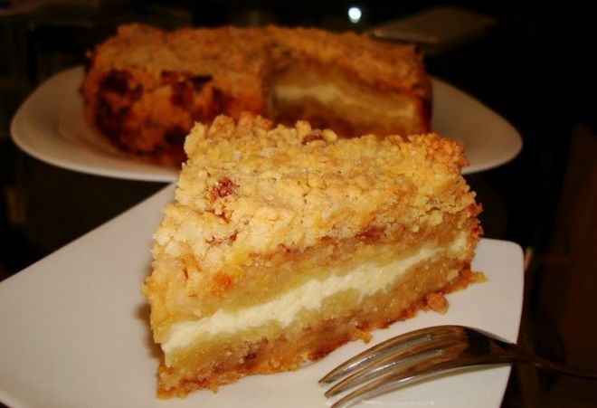 Бабушкин творожный пирог с изюмом