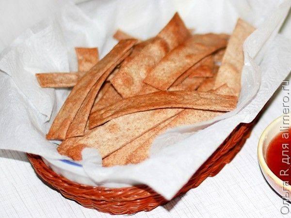 Хрустящие чипсы из цельнозерновой муки