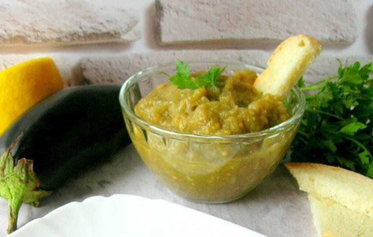 Сырая икра из запеченных баклажанов. вкусный рецепт с фото.