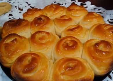 Пошаговый рецепт булочек с повидлом