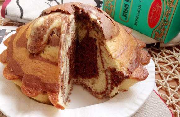 Пирог зебра классический рецепт на сметане