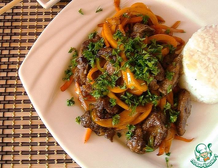 Куриная печень с овощами - рецепт с фотографиями - patee. рецепты