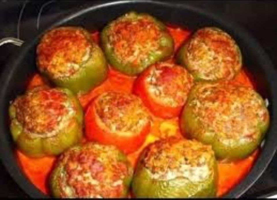 Перец фаршированный перец рецепт с фото в духовке