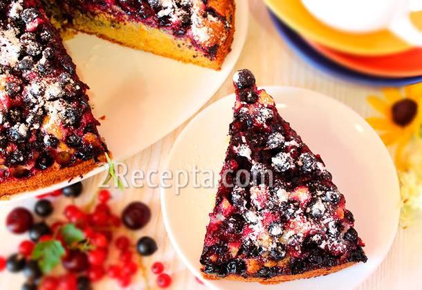 Торт с черной смородиной