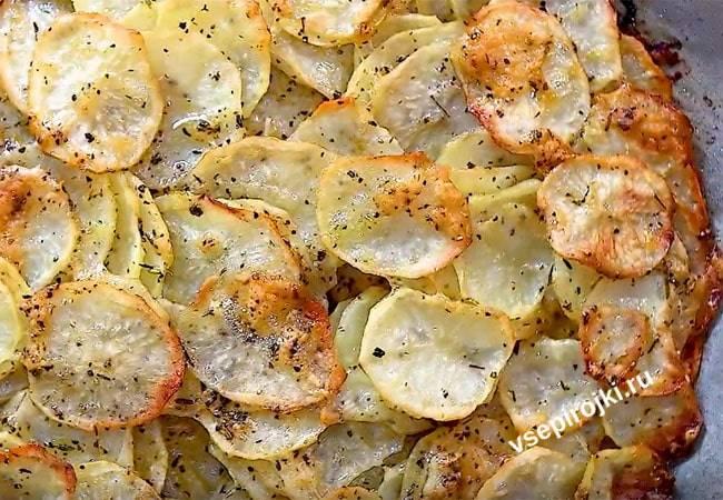 Хрустящая картошка с пармезаном и специями