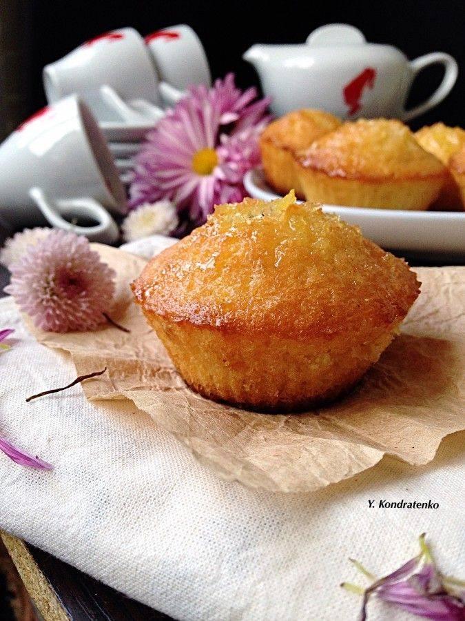 Лимонные кексы с мятой