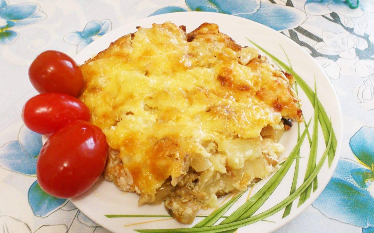 Картофельная запеканка с курицей и грибами: рецепты с фото