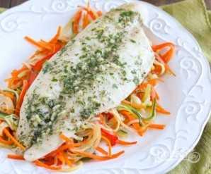 Филе рыбы, запеченное в духовке - пошаговый рецепт с фото