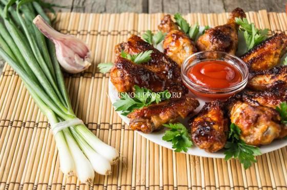 Курица с соевым соусом и медом