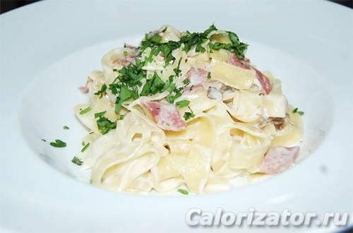 Паста с ветчиной, базиликом, томатами и маслинами - рецепты джуренко