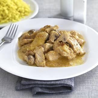 Мясо индейки в сливочном соусе