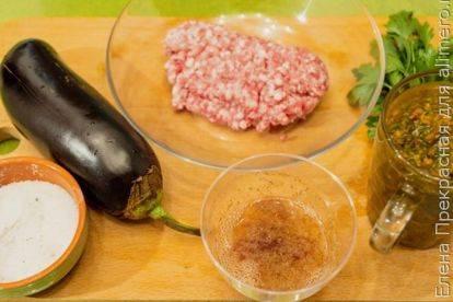 Запеканка из баклажанов с мясным фаршем