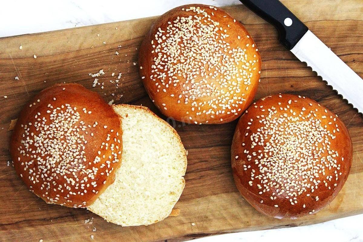Булочки для гамбургеров, рецепт как в макдональдсе