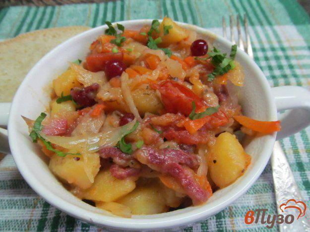 Картофель тушеный с вешенкой рецепт с фото