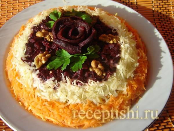 Салат с грецкими орехами