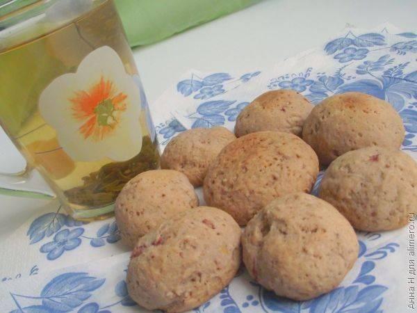 Овсяное печенье с клубникой