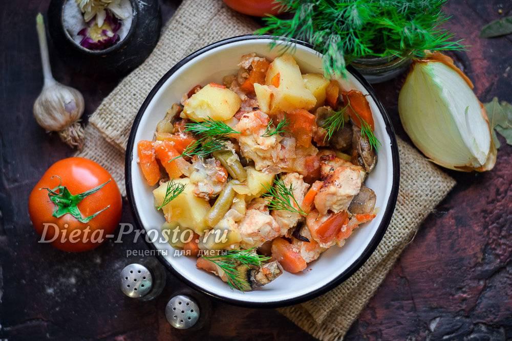 Индейка, запеченная с овощами