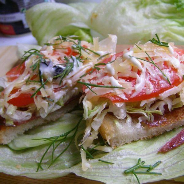 10 минут, и шикарный завтрак с салатом Айсберг у вас на тарелке!