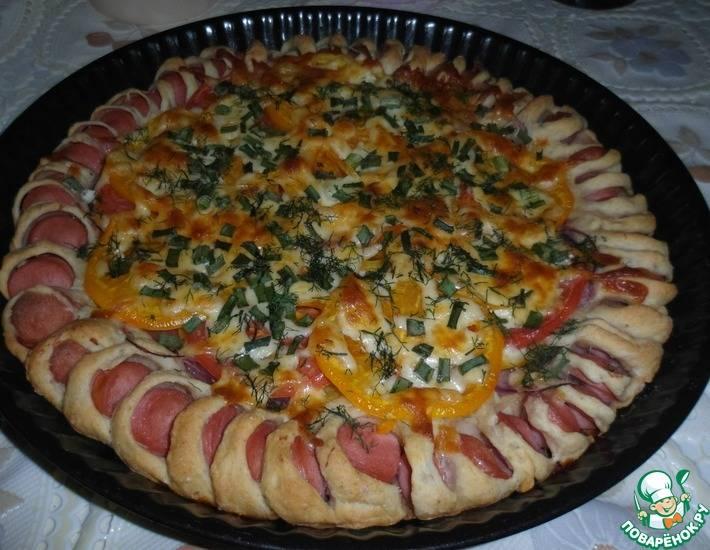 Необычная пицца с вкусными краешками