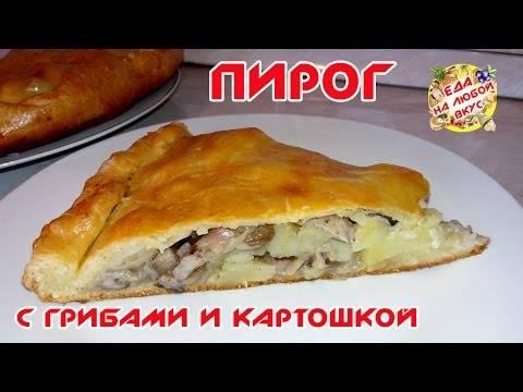 Пирог с картошкой и грибами - рецепты в духовке и в мультиварке, с сыром, курицей из разного теста