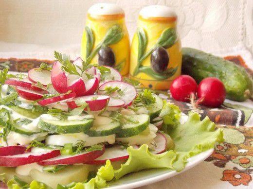 Салат из редиски — весенние рецепты на любой вкус