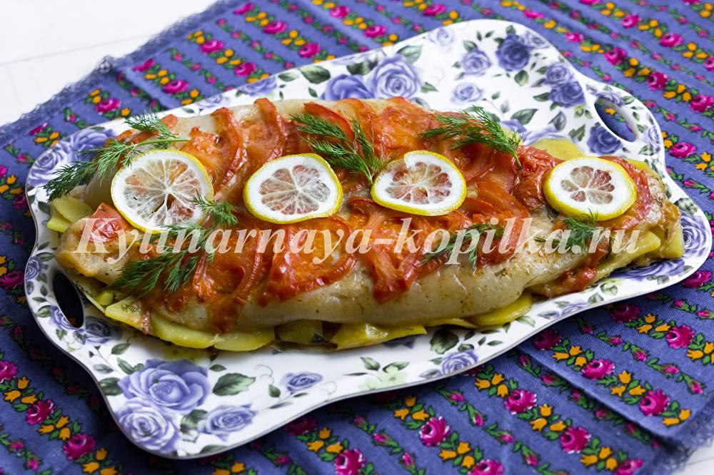 Пангасиус с картофелем запеченный в рукаве