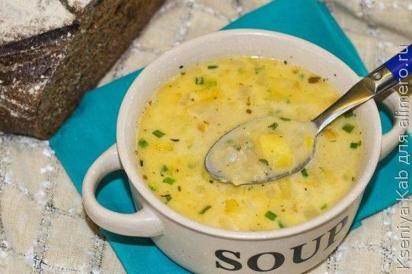 Суп с адыгейским сыром/ рецепт с фото