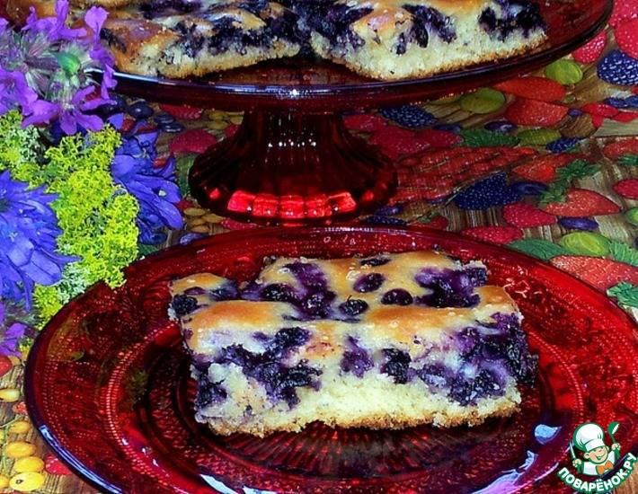 Роскошный пирог с черникой