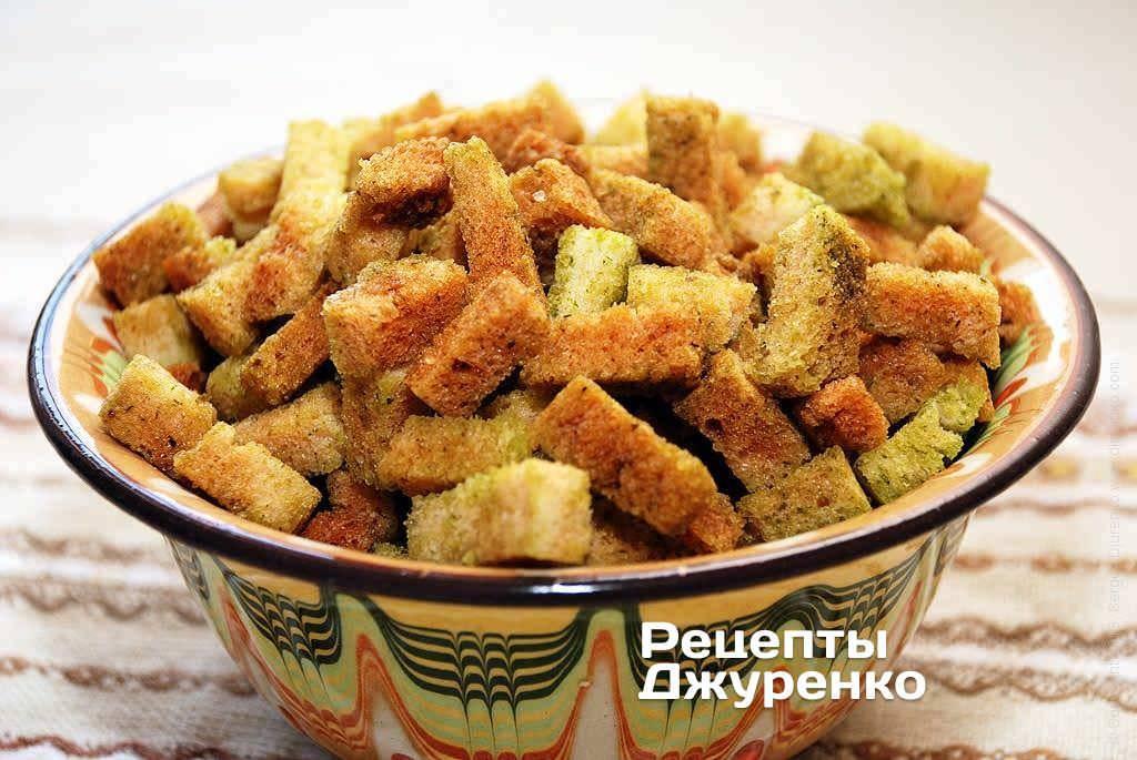 Как сделать гренки из хлеба? как сделать чесночные гренки?
