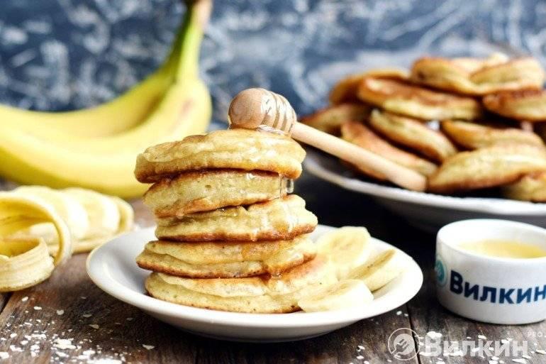 Банановые оладьи на кефире рецепт с фото