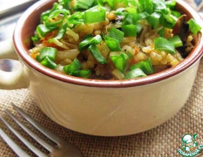 Постные ленивые голубцы с грибами и рисом: рецепт с фото (+отзывы)