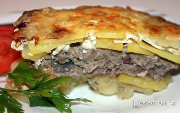 Картофельная запеканка с фаршем и грибами в духовке - 5 рецептов с фото пошагово