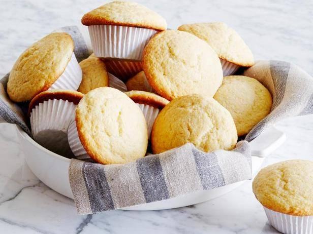 Кукурузно-лимонные кексы с глазурью